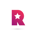 Letter R star logo icon design template elements vector image vector image