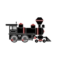 Locomotive icon simple style vector image vector image