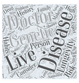 Longevity and Healthy Aging Word Cloud Concept vector image vector image