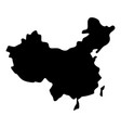 map of china icon black color flat style simple vector image vector image