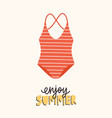 modern seasonal composition with enjoy summer vector image vector image