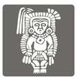 monochrome icon with American Indians art and ethn vector image vector image