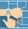 navigation with smart watch vector image vector image