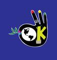 Ok Hand vector image