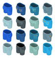 pants pockets design icons set isometric style vector image vector image
