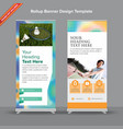 premium rollup banner with mesh duotones vector image vector image