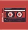 Retro design with a cassette tape t-shirt and