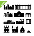 rome city italy landmark and skyline silhouettes vector image vector image