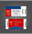 russia 2018 football or soccer ticket design vector image