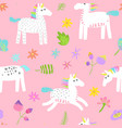 seamless pattern with magic unicorns vector image vector image