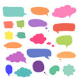 set blank colorful speech bubbles and balloons vector image