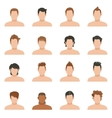 Set Icons Of Hairstyle Man vector image