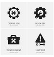 set of 4 editable service icons includes symbols vector image vector image