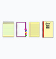 set of note book or ripped paper vector image vector image