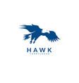 silhouette eagle hawk falcon logo bird eagle vector image vector image