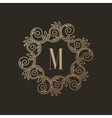 Simple and elegant monogram design template with vector image vector image