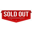 sold out banner design vector image