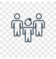 team concept linear icon isolated on transparent vector image
