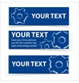 Techno blue background with gears and sample text vector image
