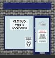 tier 3 covid19 lockdown vector image vector image