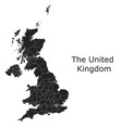 united kingdom map with regional division vector image
