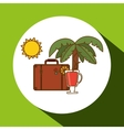 Vacations icon design vector image vector image