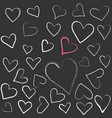 valentines day card hearts vector image vector image