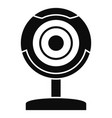web camera icon simple style vector image