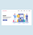 web site gradient design template cyber vector image
