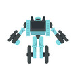 wheel robot transformer icon flat isolated vector image vector image