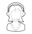 Woman operator icon outline style vector image vector image