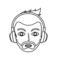 young man with headset character vector image vector image