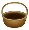 isolated wooden basket vector image