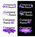 Set of Brand Identity Design Lilac Logo vector image