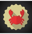 Summer Travel Sea Crab flat icon vector image