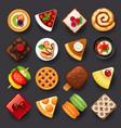 dessert icon set-2 vector image