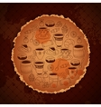 Coffee vintage temlate with blots and stuff vector image