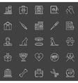 Veterinary clinic icons vector image