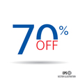 70 sale Price off icon with 70 percent discount vector image vector image
