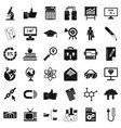 Analytics icons set simple style vector image