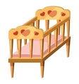 Baby bed icon cartoon style vector image