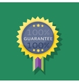 Badge Sticker Guarantee Design Flat vector image