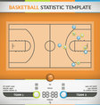 Basketball Statistic vector image vector image