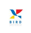 bird - concept logo template vector image vector image
