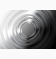 black and white glossy metallic circles abstract vector image vector image