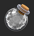 bottle of smoke game icon of magic elixir vector image