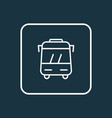 bus icon line symbol premium quality isolated vector image vector image