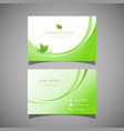 business card with leaf design vector image vector image