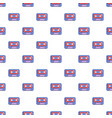 cassete tape pattern seamless vector image vector image