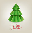 christmas paper tree vector image vector image
